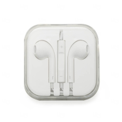 Fone de Ouvido Com Microfone Personalizado Branco