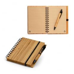 Caderno A5 Bambu Personalizado - 18,0 x 13,5 cm