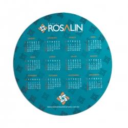 Mouse Pad de EVA Redondo 100% Personalizado Azul Claro