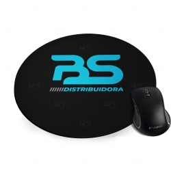 Mouse Pad de EVA Redondo 100% Personalizado Preto
