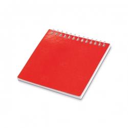 Caderno Para Colorir Personalizado - 9 x 9 cm Vermelho