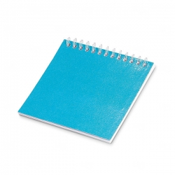 Caderno Para Colorir Personalizado - 9 x 9 cm Azul