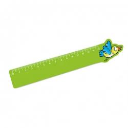 Régua Infantil Personalizada - 15cm Verde Claro