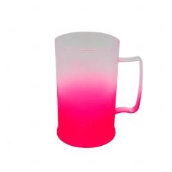 Caneca Personalizada  de Chopp Degrade - 500 ml Rosa