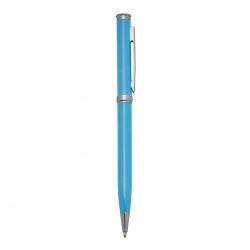 Caneta Semimetal Personalizada Azul Claro
