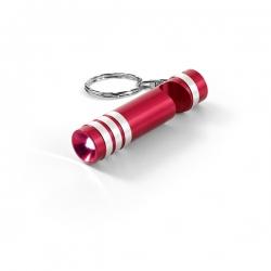 Chaveiro Metal Com LED Personalizado Vermelho