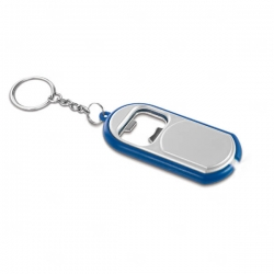 Chaveiro Com LED e Abridor Personalizado Azul