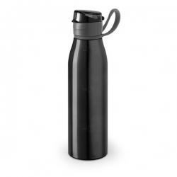 Squeeze De Alumínio Personalizada - 650ml Preto
