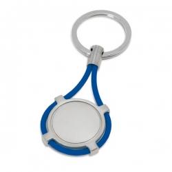 Chaveiro De Metal Personailizado Azul
