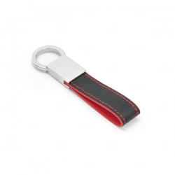 Chaveiro De Couro Sintético Personalizado Vermelho