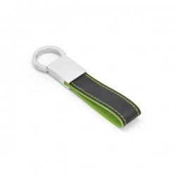 Chaveiro De Couro Sintético Personalizado Verde