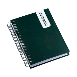 Agenda Diária 2022 Personalizada - 20,10 x 16 cm Verde Escuro
