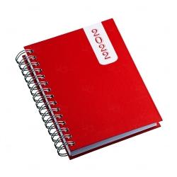 Agenda Diária 2022 Personalizada - 20,10 x 16 cm Vermelho