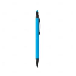 Caneta Metal Touch Personalizada Azul Claro