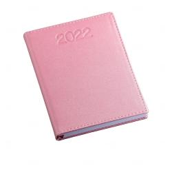 Agenda Diária 2022 Personalizada - 20 x 14,90 cm Rosa Claro