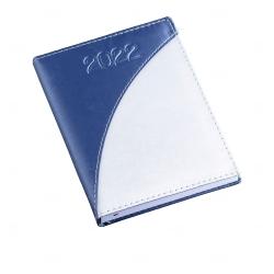 Agenda Diária de Couro Sintético Personalizada - 20 x 14,9cm Azul