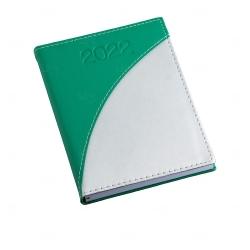 Agenda Diária de Couro Sintético Personalizada - 20 x 14,9cm Verde