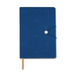 Caderneta Tipo Moleskine Personalizada - 21 x 14,8 cm Azul