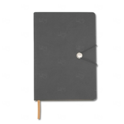 Caderneta Tipo Moleskine Personalizada - 21 x 14,8 cm Cinza