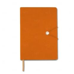 Caderneta Tipo Moleskine Personalizada - 21 x 14,8 cm Laranja