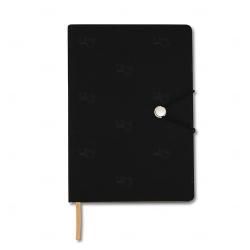 Caderneta Tipo Moleskine Personalizada - 21 x 14,8 cm Preto