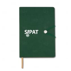 Caderneta Tipo Moleskine Personalizada - 21 x 14,8 cm Verde
