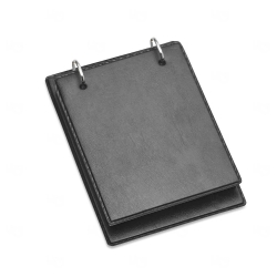 Bloco de Anotação Personalizada - 19,3 x 13,8 cm Preto