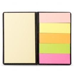 Caderneta Couro com  Post-It Personalizada - 13,6 x 8,1 cm