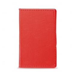 Caderneta Couro com  Post-It Personalizada - 13,6 x 8,1 cm Vermelho