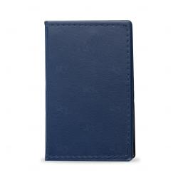 Caderneta Couro com  Post-It Personalizada - 13,6 x 8,1 cm Azul Marinho