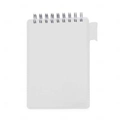 Bloco de Anotações com Suporte Personalizado - 14,9 x 9,1 Branco