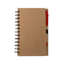 Bloco de Anotações com Caneta Personalizado - 18,2 x 12,1 cm Vermelho