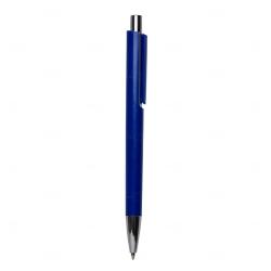 Caneta Plástica Personalizada Azul Marinho