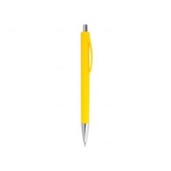 Caneta Colorida Plástica Personalizada Amarelo