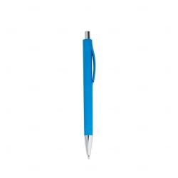 Caneta Colorida Plástica Personalizada Azul Claro