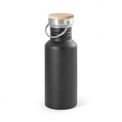 Squeeze de Inox e tampa de Bambu Personalizado -  540ml