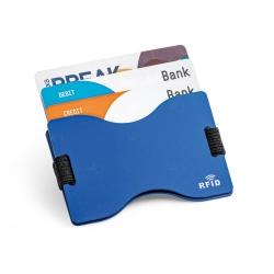 Porta Cartões Alumínio Personalizado Azul