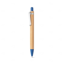 Caneta Esferográfica Bambu Personalizada Azul