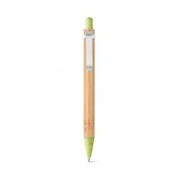 Caneta Esferográfica Bambu Personalizada Verde