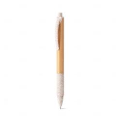 Caneta Esferográfica Bambu Personalizada Natural