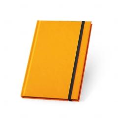 Caderno Capa Dura Personalizado - 21 x 14 cm Laranja