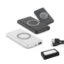 Bateria Portátil Wireless Personalizado - 4.000 mAh Preto