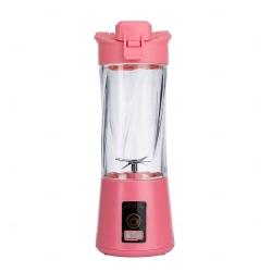 Mini Liquidificador Portátil - 300ml Rosa Flamingo