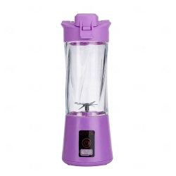 Mini Liquidificador Portátil - 300ml Roxo