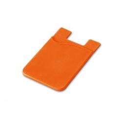 Porta Cartão de Silicone Personalizado Laranja