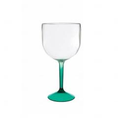 Taça de Gin  Acrilica Bicolor Personalizado - 570ml Verde