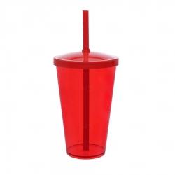 Copo Personalizado - 550ml (Leitoso ou Cristal) Vermelho