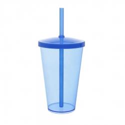 Copo Personalizado - 550ml (Leitoso ou Cristal) Azul Claro