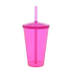 Copo Personalizado - 550ml (Leitoso ou Cristal) Rosa
