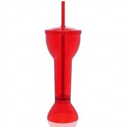 Copo Personalizado  Yard Prime - 550ml (Leitoso ou Cristal) Vermelho